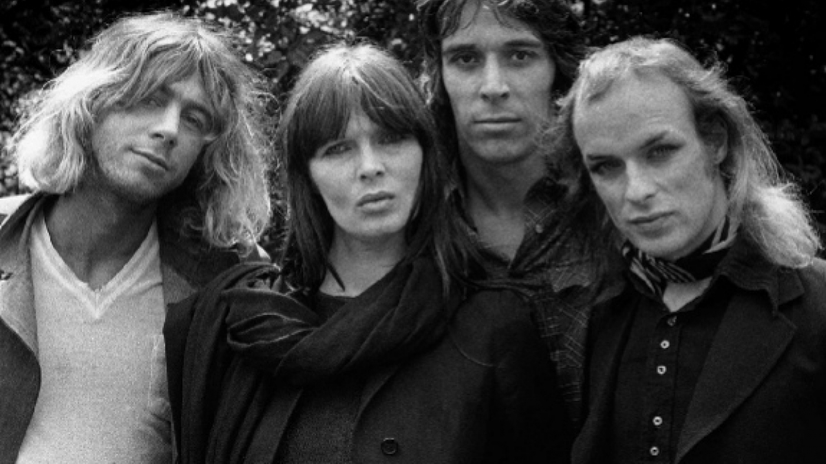 Kevin Ayers_Nico_John Cale_Brian Eno ©Barrie Wentzell, 1974