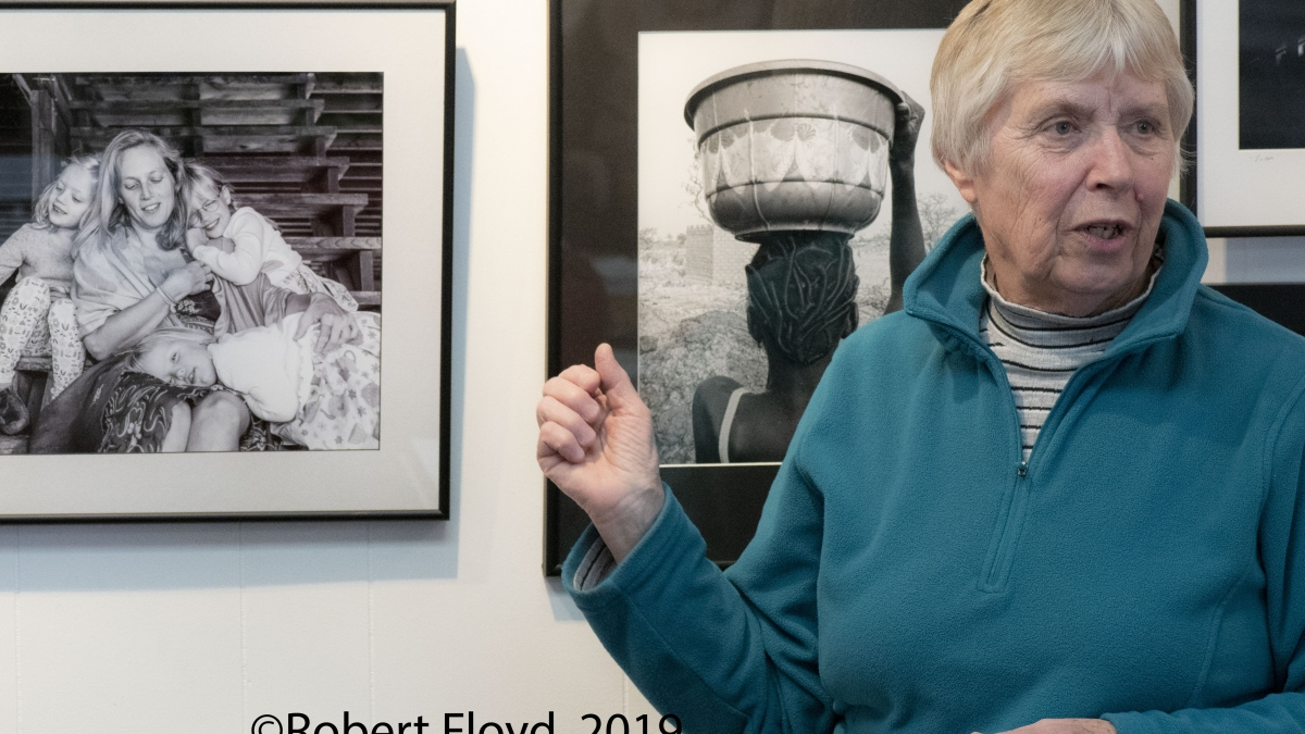 Dot Barnard shares her portrait's story at The Floyd Gallery ©Robert Floyd, 2019